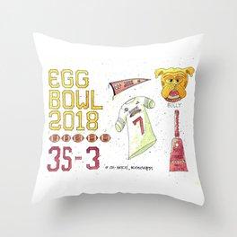 2018 Egg Bowl Throw Pillow