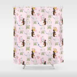 Easter Bunny Factory Shower Curtain