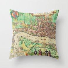 A Modern Map of London Throw Pillow