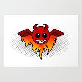 Winged Devil Art Print