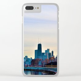 Chicago Waterfront Skyline Clear iPhone Case