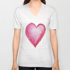 Big heart Unisex V-Neck