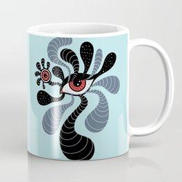 Abstract Surreal Double Red Eye Coffee Mug