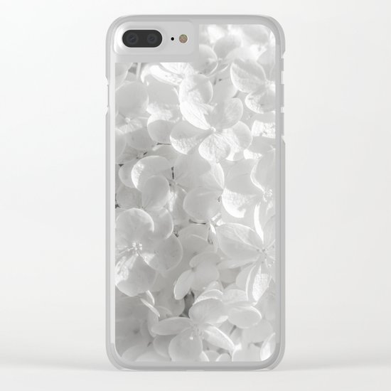 Holy Hydrangea V Clear iPhone Case