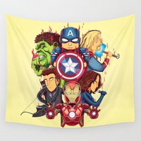 avenger Wall Tapestries featuring The Avenger by rendhy wahyu