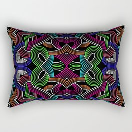 Tribal-Art Inspired Seamless Print Rectangular Pillow
