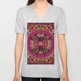 Victoria Mandala Collage Unisex V-Neck