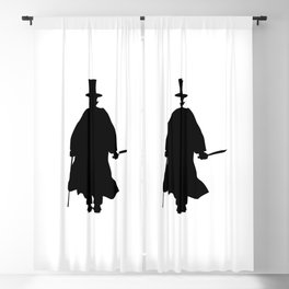 Jack the Ripper Silhouette Blackout Curtain