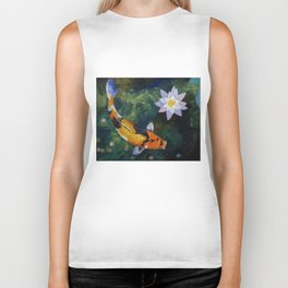 Showa Koi and Water Lily Biker Tank