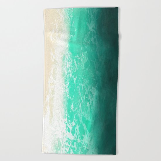 Sea texture Beach Towel