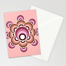 70's flower - Fall palette Stationery Cards