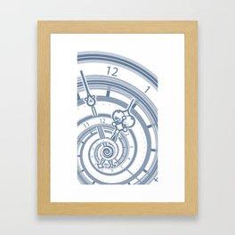Alice watches 1. Time in Wonderland. Framed Art Print