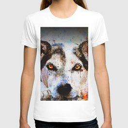 lying dog close-up view wsstd T-shirt