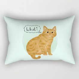 What's New Kitty Cat Rectangular Pillow