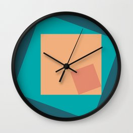SQUARES! in squares Wall Clock