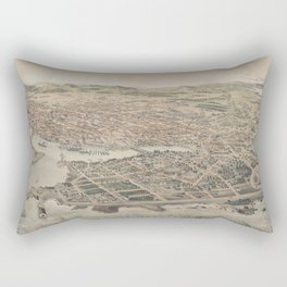Vintage Pictorial Map of Victoria BC (1889) Rectangular Pillow