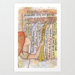 God's Chosen by patsy paterno Art Print