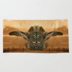 The greatest great gray of them all Beach Towel