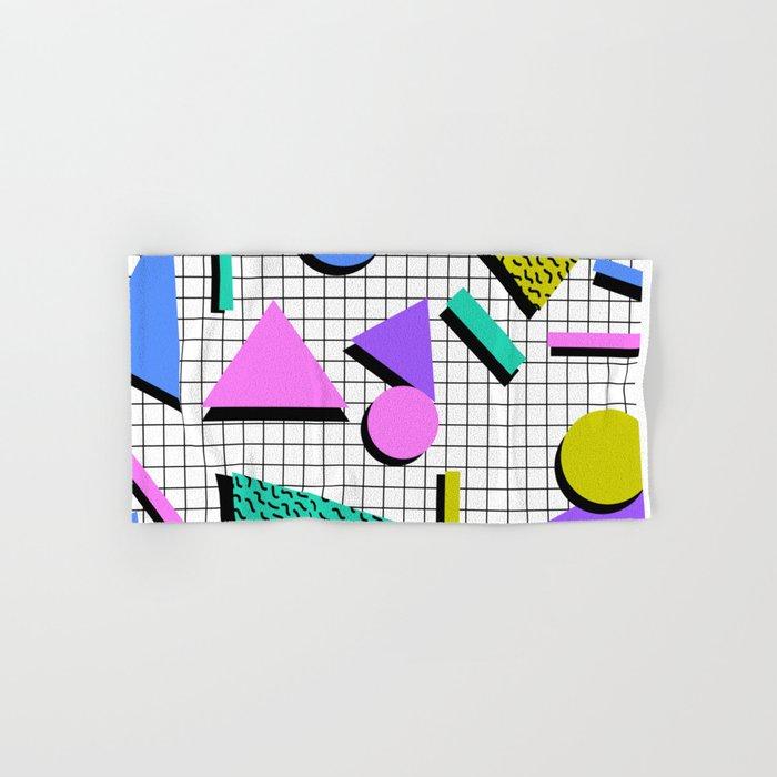 80s Retro Geometric Pattern 2 Hand & Bath Towel