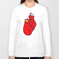 boxing Long Sleeve T-shirts featuring Boxing Gloves by Artistic Dyslexia