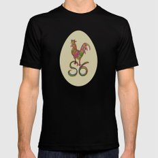 the rooster in the morning MEDIUM Mens Fitted Tee Black