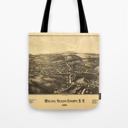 Aerial View of Walden, Orange County, New York (1887) Tote Bag