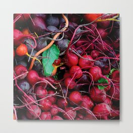 Tangle of Radishes Metal Print