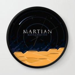 Martian Background Wall Clock