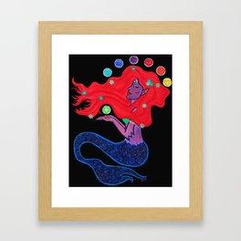 Cosmic Mermaid Framed Art Print
