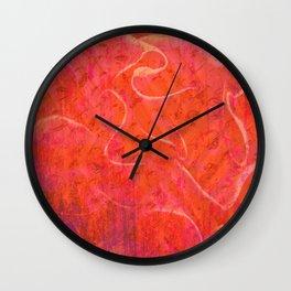 Flaming Rose, Floral Abstract Art Wall Clock