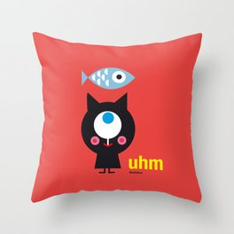 Uhm...Cat Throw Pillow