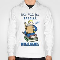 fallout 3 Hoodies featuring Intelligence S.P.E.C.I.A.L. Fallout 4 by sgrunfo