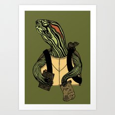 Hero In A Half Shell Art Print