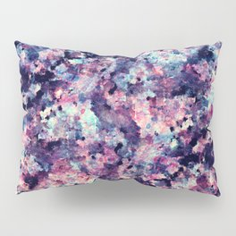 Teal Pink and Black Granite Marble Pattern Pillow Sham