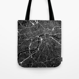 London Black Map Tote Bag