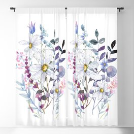 Wildflowers V Blackout Curtain