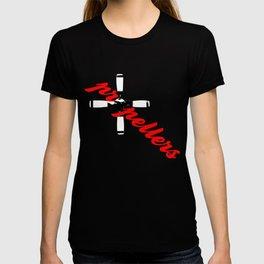 Propellers 4 Blade --- clear2land.net  copyright T-shirt