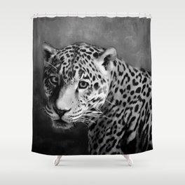 The J A G U A R Shower Curtain