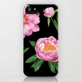 Fresh peonies iPhone Case