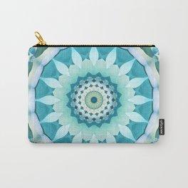 Aquamarine Mandala Carry-All Pouch