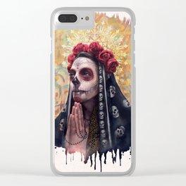 """Katrina"" - Skull girl Clear iPhone Case"