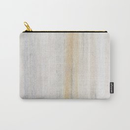Rustic gray gold yellow vintage white marble Carry-All Pouch