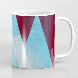 ICY MOUNTAINS UNDER A BLOOD RED WINTER MOON Coffee Mug