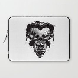 Funny Hipster Skull with Headphones Laptop Sleeve