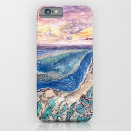 Great Barrier Reef at sunset - aerial view - coral reef - wall art iPhone Case