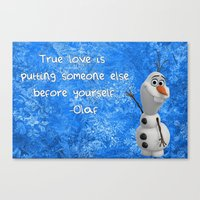 olaf Canvas Prints featuring Olaf by Maggie Jane Photography