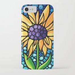 Standing Tall - Sunflower Art By Sharon Cummings iPhone Case