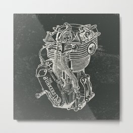 Engine Metal Print