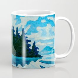 Blue Totem No.2 Coffee Mug
