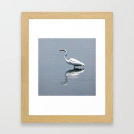 Great Egret Triptych 2 Framed Art Print
